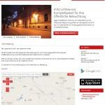 Via Webportal und App erfasst die EVN Beleuchtungsdefekte schnell und effizient