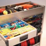 Ordnung im Elektriker-Mobil