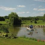 So sind auch spezielle Einsätze möglich, wie hier auf dem Gelände eines Golfplatzes