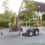 PKW-Anhänger mit Forstkran für Meter- und Langholz