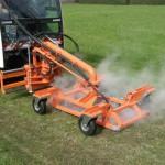 Wildkrautvernichtung mit Wasser Bertsche-Dampf-System