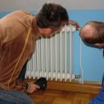 Energieberater Frank Ost von der ENFO- Energieberatung und Jürgen Odenwald von der Firma Schulz Versorgungstechnik