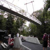 Fachwerktrogbrücke aus Aluminiumstrangpressprofilen