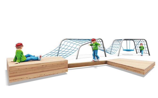 Das neue SERPENTES-Spielsystem vereint spielerische Eigenschaften mit konkretem Nutzen: während die unterschiedlich ausgerichteten Module den Kindern Freiraum zum Chillen und Spielen bieten, fördern sie gleichzeitig Grobmotorik, Gleichgewichtssinn und Muskelkraft.