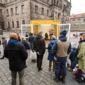 """Aktion """"Weltoffenes Dresden"""" nutzt ELA Container"""