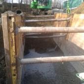Verbauter Kanalgraben in der Birlenbacher Straße in Siegen (Foto: ESi Entsorgungsbetriebe der Stadt Siegen, Siegen)