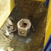 Schachtunterteil in verbauter Baugrube (Foto: ESi Entsorgungsbetriebe der Stadt Siegen, Siegen)