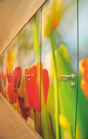 kd153 sana3 - Digitaldruck auf Sanitärtrennwänden – Kunststücke für Schul-WC's