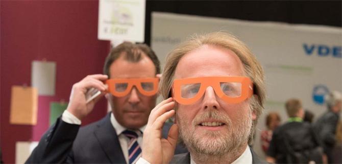 Zukunft Lebensräume 2015: Olaf Cunitz, Bürgermeister Frankfurt am Main / Wolfgang Marzin,Vorsitzender der Geschäftsführung Messe Frankfurt