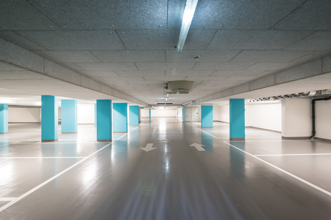 Parkhäuser und Tiefgaragen: ROMEX® beschichtet und schützt die stark belasteten Oberflächen