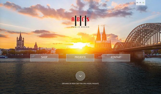 Auf der Webseite zeigt Abes zudem Projektbeispiele aus dem Stadtbild. Auch steht der Gesamtkatalog zum Download bereit.