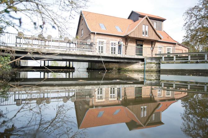 Heute ist die Wassermühle eine attraktive Büroimmobilie.