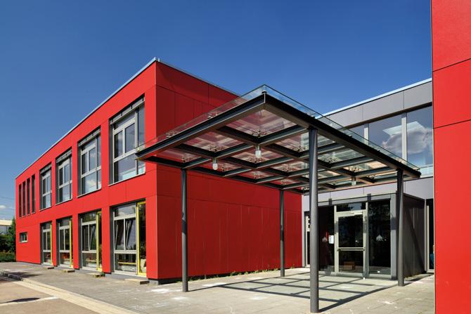 kd161 alho1 - Aufstockung einer Schule in Modulbauweise in Berchem, Luxemburg