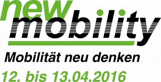 Logo new mobilty 2016 mit Datum - new mobility 2016: Urbane Mobilität von morgen im Blickpunkt