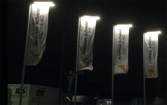 kd162 fahnen - Fahnen mit LED-Beleuchtung fallen auf