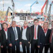 Drei Generationen der Familie Kiesel v.l.n.r.: Jochen, Christa, Helmut, Kathrin, Christopher, Andrea und Toni Kiesel