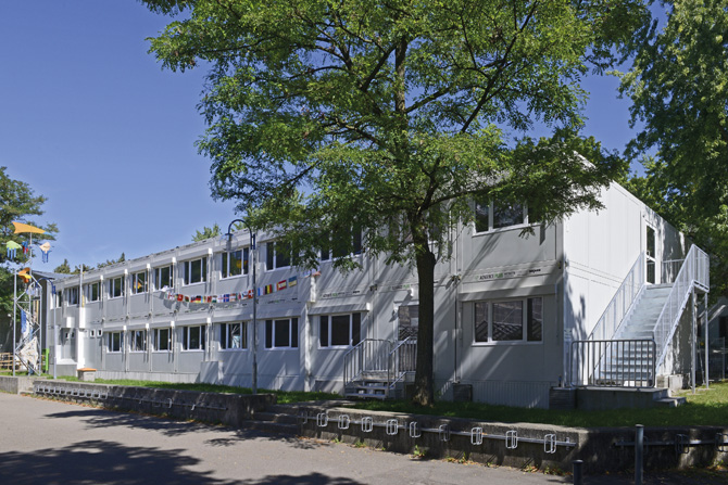 kd165 algeco1 - Schlüsselfertiges mobiles Schulgebäude