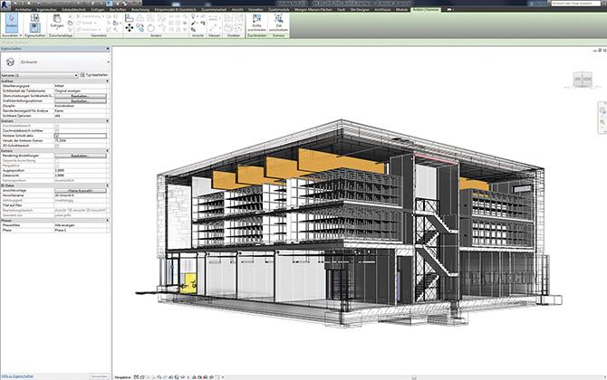 """""""Das kürzlich fertiggestellte Bauaktenarchiv der DB Netz AG konnte das atelier4d nahezu nachtragsfrei realisieren – kein Zufall, sondern das Ergebnis von BIM-basierter Planung in Verbindung mit effektivem Qualitätsmanagement."""""""
