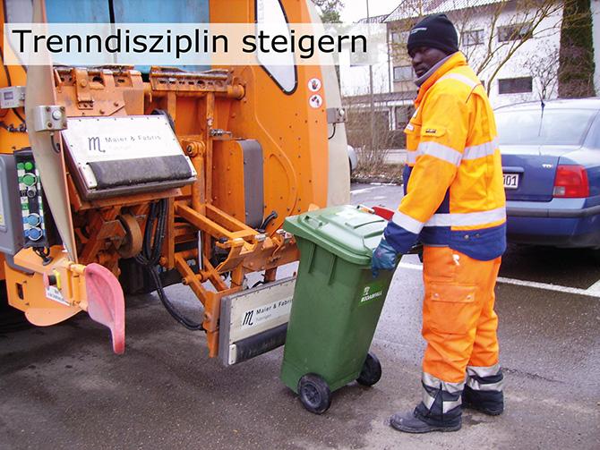 Ohne Zeitverlust findet die automatische Prüfung statt - möglichst an allen Biogut-Fahrzeugen und dauerhaft!