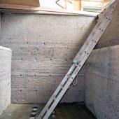 Filterbecken im Wasserwerk Bramsche, vorbereitete Betonoberfläche