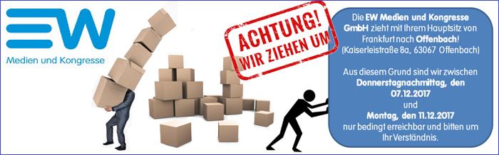 ew medien - EW Medien und Kongresse GmbH verlegt ihre Betriebsstätte nach Offenbach