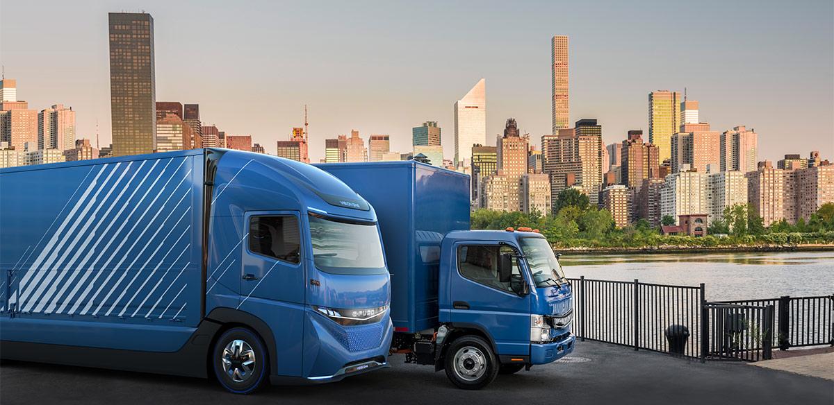 header - FUSO eCanter: Markteinführung des ersten vollelektrischen Lkw aus Serienproduktion