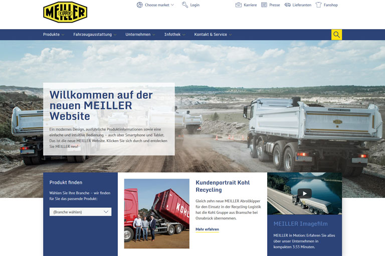 Meiller - MEILLER startet mit neuem Internetauftritt ins Jahr 2018