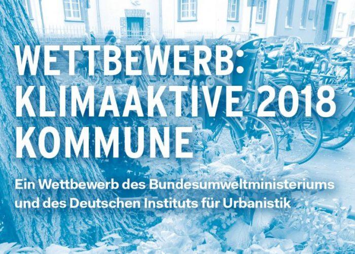 """KeyVisual Wettbewerb Klimaaktive Kommune 2018 1417x902px web 700x500 - 250 000 Euro Preisgeld für """"Klimaaktive Kommunen"""""""