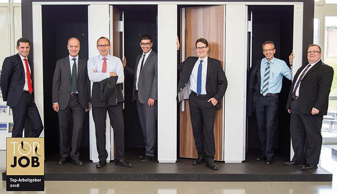 Von links nach rechts: Geschäftsführer Markus Reich und Kurt Binder, Vertriebsleiter Thomas Bopp und Michael Frick, Exportleiter Jens Weber, Produktionsleiter Paul Dörr, IT-Leiter Michael Holder