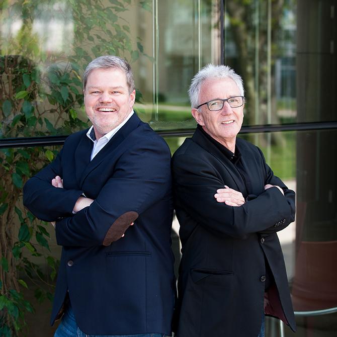 Knut Marhold und E. Rüdiger Weng unterstützen ihre Mitgliedsbüros bei der Suche nach passenden Projektpartnern und sorgen für einen regen Austausch zwischen den Büros.