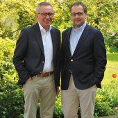 Die geschäftsführenden Gesellschafter der Franz Carl Nüdling Basaltwerke GmbH + Co. KG, Peter Nüdling (links) und Bernhard Pilz.