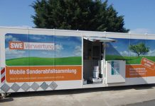 Mobile Container-Sammelstelle