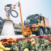 Ecotech Gießanlage für die Pflege und Bewässerung von Blumen- und Beetanlagen (Foto: Ecotech)