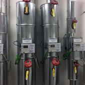 """In den Hauptwärmeverteilungen für die Fußbodenheizung wurden Klimazähler """"Ultramess® 602"""" installiert. Sie erfassen die Energiemengen sowohl im Heiz- als auch im Kühlfall."""