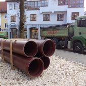 Für die Erneuerung des Mischwasserkanals in der Bahnhofstraße in Immenstadt kamen braune HS®-Kanalrohre zum Einsatz.