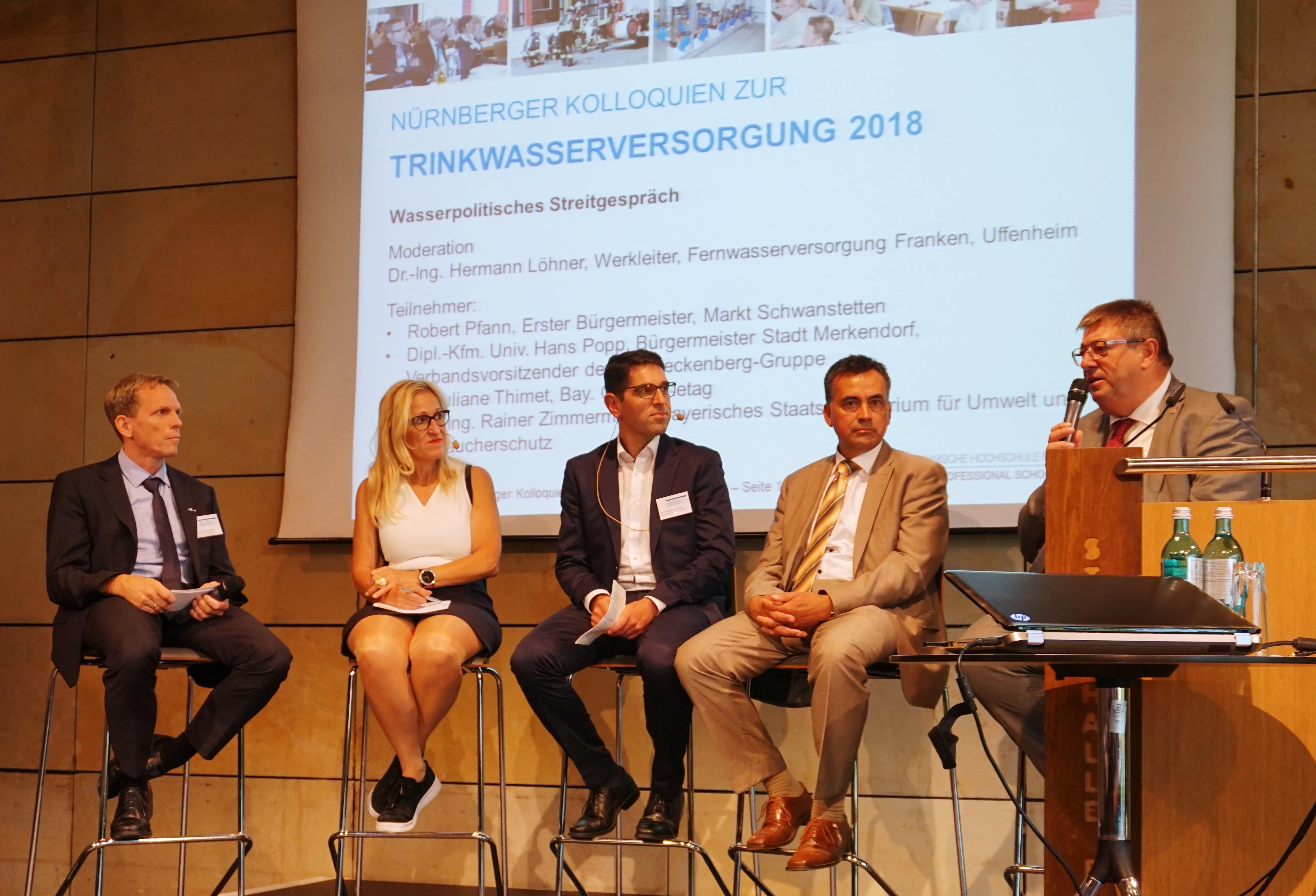 Wasserpolitisches Streitgespräch Trinkwasser2018 - Nürnberger Kolloquien zur Kanalsanierung