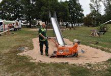 Neues Verfahren für Sandflächenreinigung
