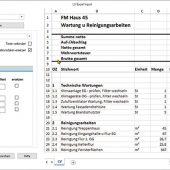 Vorbereitung der periodischen Leistungen für den Excel-Datenaustausch