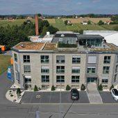 Zentralgebäude mit Produktionshallen der Wilhelm Modersohn GmbH & Co. KG in Spenge