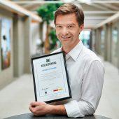 CWS Kunden erhalten eine Fairtrade-Auszeichnung, wenn sie faire Arbeitskleidung beziehen