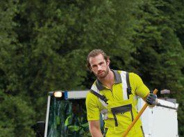 CWS Warnschutzkleidung für Straßenreinigung oder Müllabfuhr.