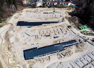 """Regenwassermanagement in einer neuen Dimension: Zwei Rigolenkörper aus D-Raintank 3000®-Elementen sorgen im Baugebiet """"Am Wiesengrund"""" für eine gezielte Sammlung und Ableitung des anfallenden Niederschlagswassers."""