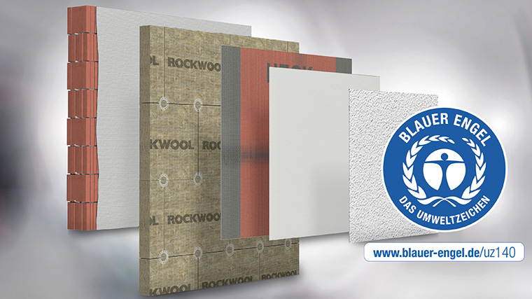 """2019 führte HECK Wall Systems mit """"MW A1"""" ein europäisch und national A1 geprüftes und zugelassenes, vollmineralisches WDVS ein. Es ist lieferbar mit Dämmdicken bis 300 mm und zertifiziert mit dem Blauen Engel. (Fotos: Heck Wall Systems GmbH)"""