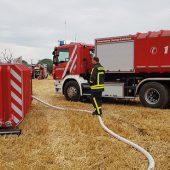 Der Löschwasser-Container von H&G im Schulungseinsatz bei der Feuerwehr in Kamp-Lintfort (Foto: Feuerwehr Kamp-Lintfort)