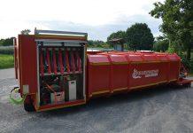 H&G Löschwasser-Container bei der Feuerwehr Aidlingen, links Geräteschrank mit individueller Bestückung. (Foto: Feuerwehr Aidlingen)