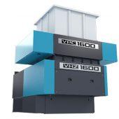 Der neue Vecoplan Pallet Crusher VPC 1600 in Verbindung mit dem VHZ 1600 bildet eine starke Einheit für die Zerkleinerung von großvolumigen Holzteilen.