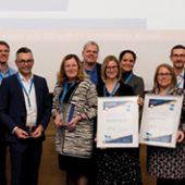 QualitätsPreis Planer am Bau 2019 – Gruppenfoto Preisträger und Initiatoren (Foto: QualitätsVerbund Planer am Bau/Nathalie Michel)
