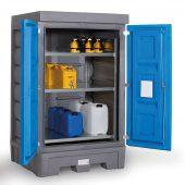 PolySafe Depot mit Türen und integriertem Regalsystem (Fotos: DENIOS)
