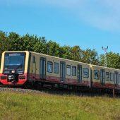 Ein Zug der neuen Baureihe 483/484 im Testbetrieb. (Foto: S-Bahn Berlin/Kathrin Fiehn)