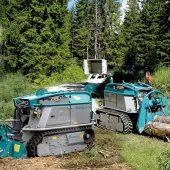 Die neue Forstfräse MAX ist von den Leistungsdaten und Abmessungen angepasst an die neue Baureihe der Forstraupe Moritz.